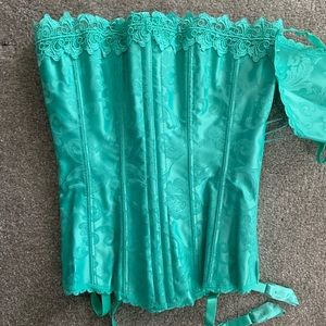 Hollywood Dreams Corset. Spearmint. size 32